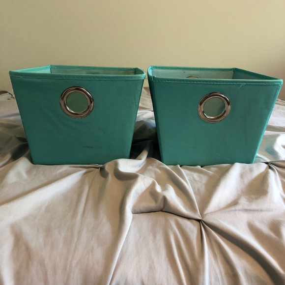 Other - Two small teal storage baskets
